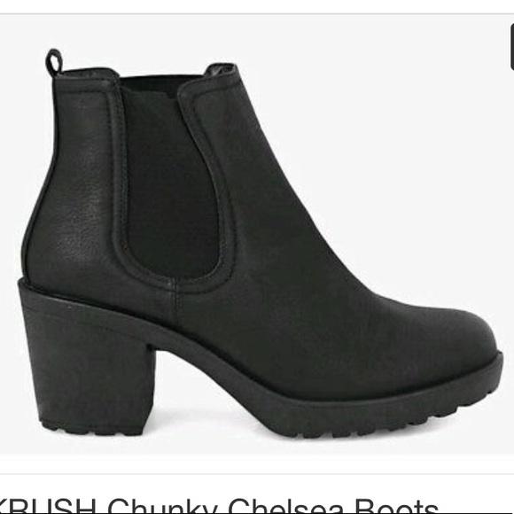 4de8913f0e5 KRUSH black chunky chelsea boots